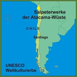 Atacama Wüste Karte.Die Humberstone Und Santa Laura Salpeterwerke In Der Atacama Wüste